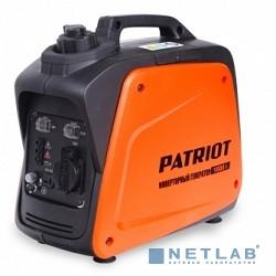 Генератор инверторный PATRIOT 1000i [474101025] {Двигатель 4т, АИ-92, 40сс,мощность рабочая/максимальная -0,7/0,9 кВт, объём бака - 2,1 л, 1 розетка Euro 16A,  вес 8,5 кг}