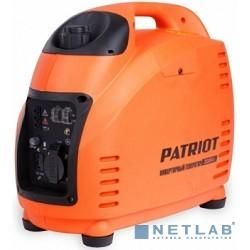 Генератор инверторный PATRIOT 2000i [474101035] {Двигатель 4т, АИ-92, 72сс,мощность рабочая/максимальная -1,5/1,8 кВт, объём бака - 3,6 л, 1 розетка Euro 16A,  вес 18,5 кг}
