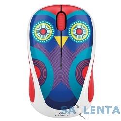 910-004474 Logitech Wireless Mouse M238 Ophelia Owl White-Purple USB
