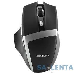 CROWN Gaming CMXG-801 Black (nano ресивер, 7 кнопок, 1600 DPI , подсветка колёсика, размер 132*81*44мм)[CM000001350]