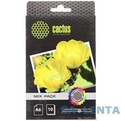 CACTUS CS-MixpackA6 Фотобумага Cactus CS-MIXPACKA6 A6/21л./белый различная фактура для струйной печати
