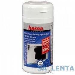 Салфетка Hama H-42212 Салфетки влажные для чистки экранов туба 100шт