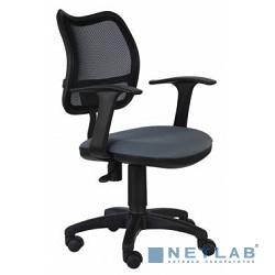 Бюрократ CH-797AXSN/26-25 Кресло (Спинка черная сетка, сиденье серое 26-25, Т-образные подлокотники)