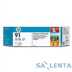 HP C9470A Картридж №91, Light Cyan {Designjet Z6100}