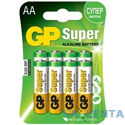 GP 15A-CR8 Super Alkaline 15A LR6,  8 шт AA (8шт. в уп-ке) {02720}