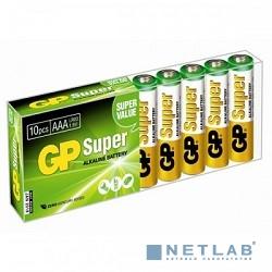 GP 24A-B10 Super Alkaline 24A LR03,  10 AAA (10 шт в уп-ке)