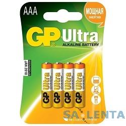 GP 24AU-2CR4 Ultra Alkaline 24AU LR03,  4 шт AAA (4шт. в уп-ке)