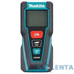 Makita LD030P Дальномер лазер,2×1.5В-LR03(AAA),635нм,точн-2мм,дал-0.2-30 м Масса 0,09 кг,кор,чехол