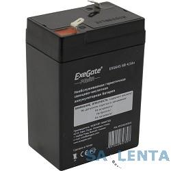 EXEGATE EP234535RUS Аккумуляторная батарея  Exegate EG4.5-6 / EXG645, 6В 4,5Ач, клеммы F1 (универсальные)