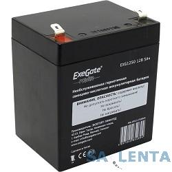 EXEGATE EP211732RUS Аккумуляторная батарея  Exegate EG5-12 / EXG1250, 12В 5Ач, клеммы F1 (универсальные)