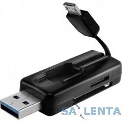 USB 3.0 Card reader microUSB/USB/SD/microSD [GR-587UB] Black