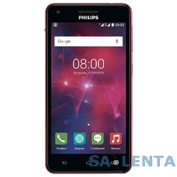 Philips Xenium V377 Black+Red {5″,1280×720,5 МП,8 Гб,Android 5.1,2 sim}