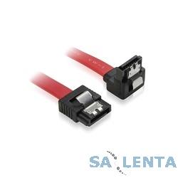 Greenconnect Кабель интерфейсный угловой SATA III 0.5m  [GC-ST1041-0.5m] SATA III — SATA III до 6Gbps, 26 AWG, 7pin / 7p