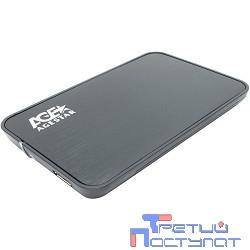 """AgeStar 3UB2A8 (6G) BLACK USB 3.0 Внешний корпус 2.5"""" SATA AgeStar 3UB2A8 (BLACK) USB3.0, сталь+пластик, черный, безвинтовая конструкция, крышка из нержавеющей стали [06515]"""