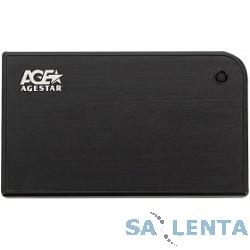 AgeStar USB 3.0 Внешний корпус 2.5″ SATA AgeStar 3UB2A14 (BLACK) USB3.0, алюминий, черный, безвинтовая конструкция [10604]