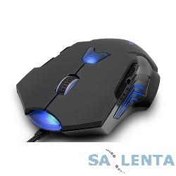 DELUX «M811» Black USB, Мышь игровая, проводная, (1000/1600/2400/3200/4000/8200 DPI), LED-подсветка, (8 кнопок)