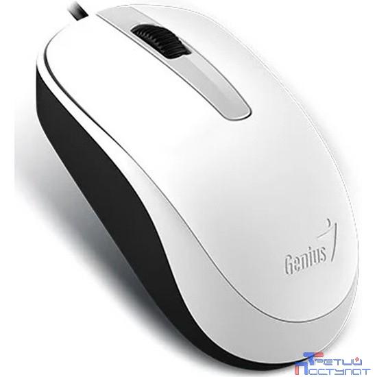 Genius DX-120 White USB, оптическая, 1000 dpi [31010105102]