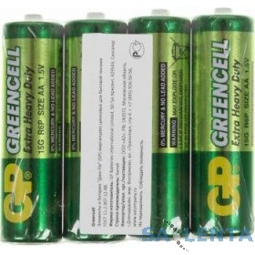 GP Greencell 15G (в спайке) R6,  4 шт AA (4шт. в уп-ке) R6/4SH Greencell