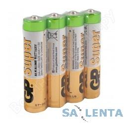 GP Super Alkaline 24ARS (в спайке) LR03,  4 шт AAA (4шт. в уп-ке)