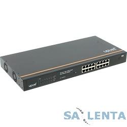 UPVEL UP-316FEW Управляемый 16-портовый PoE+ коммутатор до 30Вт на порт (металлический корпус, крепление для монтажа в стойку, Maximum PoE Output Power: 260W)