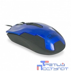 CBR CM-305 Blue-Black USB, Мышь 1200dpi, 1.28m