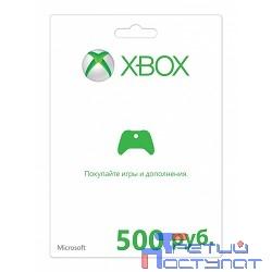 MICROSOFT Карта оплаты для сети Xbox LIVE 500 рублей [K4W-03073]