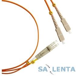 Hyperline FC-D2-50-LC/PR-SC/PR-H-2M-LSZH-OR (FC-50-LC-SC-PC-2M) Патч-корд волоконно-оптический (шнур) MM 50/125, LC-SC, duplex, LSZH, 2 м
