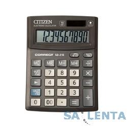 Калькулятор настольный Citizen Correct SD-210 черный 10-разр.