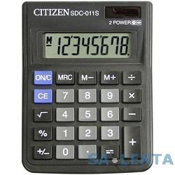 Калькулятор настольный Citizen SDC-011S 8 разрядов, 87х120х22 мм