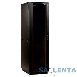 ЦМО! Шкаф телекоммуникационный напольный 42U (600×800) дверь стекло, цвет чёрный  (ШТК-М-42.6.8-1ААА-9005) (3 коробки)