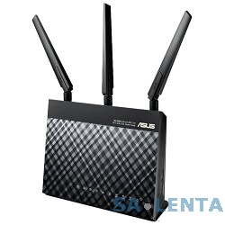 ASUS DSL-AC68U гигабитная Wi-Fi ADSL точка доступа, 802.11a/b/g/n/ac, 1900 Мбит/с, маршрутизатор, коммутатор 4xLAN, принт-сервер