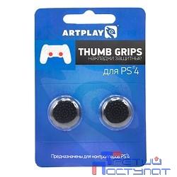 PS 4 Накладки Artplays Thumb Grips защитные на джойстики геймпада (2 шт) черные [ACPS423]