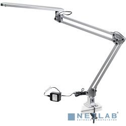 ЭРА Б0008003 Настольный светодиодный светильник NLED-441-7W-S серебро {Крепление струбцина, цвет. температура 3000К}
