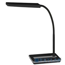 ЭРА Б0017431 Настольный светодиодный светильник NLED-446-9W-BK черный {диммер яркости, цвет. температура 3000К}
