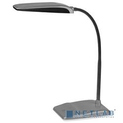 ЭРА Б0017433 Настольный светодиодный светильник NLED-447-9W-S серебро {USB-порт для зарядки устройств, диммер яркости, цвет. температура 3000/4500/6500К}