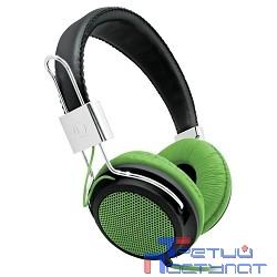 Наушники BBK EP-3500S черный/зеленый