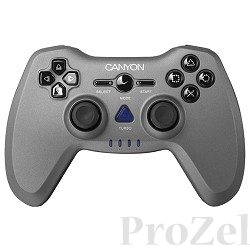 Canyon CNS-GPW6 3in1 wireless gamepad, up to 8 hours of play time, transmission distance up to 10m, rubberized finishing, dual-shock vibration (Compatible with PC, PS2, PS3