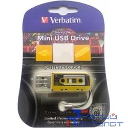 Verbatim USB Drive 32Gb Mini Cassette Edition Yellow 49393 {USB2.0}