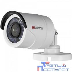 HIKVISION HiWatch DS-T200 2Мп уличная цилиндрическая HD-TVI камера с ИК-подсветкой до 20м