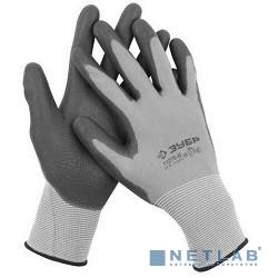 Перчатки ЗУБР ''МАСТЕР'' для точных работ с полиуретановым  покрытием, размер M [11275-M]