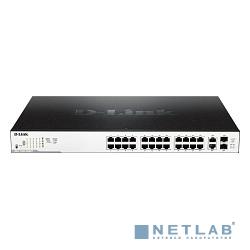 D-Link DGS-1100-26MPP/B1A Настраиваемый коммутатор EasySmart с 24 портами 10/100/1000Base-T и 2 комбо-портами 1000Base-T/SFP (порты 1 – 24 с поддержкой PoE 802.3af/802.3at (30 Вт)