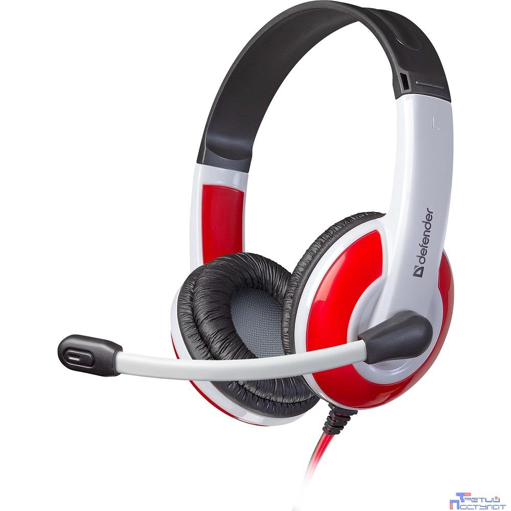Defender Warhead G-120 красный + белый, кабель 2 м  [64098]