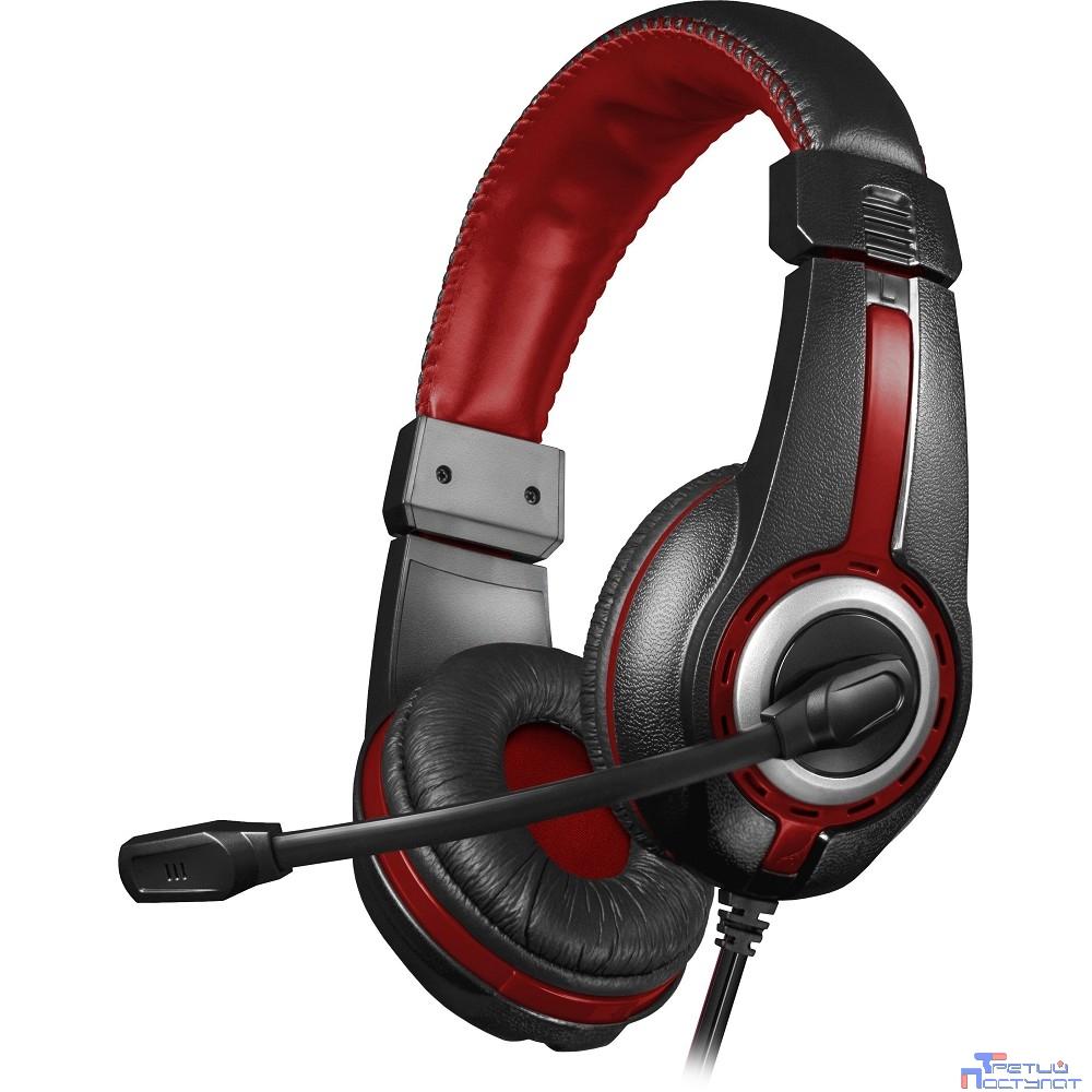 Defender Warhead G-185 черный + красный, кабель 2 м  [64106]