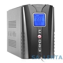 CROWN ИБП CMU-800 IEC LCD {800VA/450W, розетки 4*IEC  +1*IEC bybass, LCD} [CM000000087]