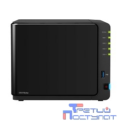 Synology DS416play Сетевое хранилище 4xHDD SATA (3,5' or 2,5'), DC1,6GhzCPU/1GB/RAID0,1,10,5,5+spare,6/ 3xUSB3.0/2GigEth/iSCSI/2xIPcam(up to 25)/ 1xPS