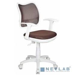 Бюрократ CH-W797/BR/TW-14C кресло (спинка сетка коричневый сиденье коричневый TW-14C (пластик белый))
