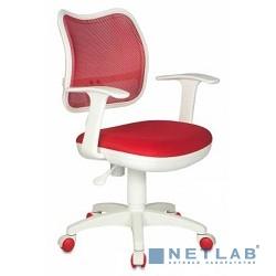 Бюрократ CH-W797/R/TW-97N кресло (спинка сетка красный сиденье красный TW-97N (пластик белый))