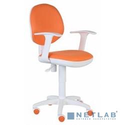 Бюрократ CH-W356AXSN/15-75 кресло оранжевый 15-75 колеса белый/оранжевый (пластик белый)