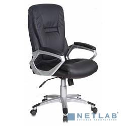 Бюрократ CH-875S/BLACK Кресло руководителя Бюрократ черный искусственная кожа (пластик серебро)