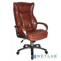 Бюрократ CH-879DG/Brown кресло руководителя коричневый искусственная кожа (пластик темно-серый)